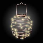 Solar Spiral Lantern - Pink 2