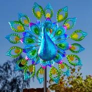 Solar Peacock Wind Spinner 1