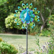 Solar Peacock Wind Spinner 2