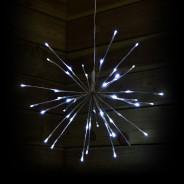 45cm White Sparkle Ball Light 1