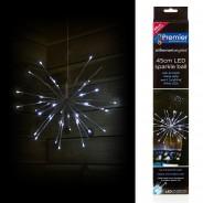 45cm White Sparkle Ball Light 3