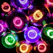 Spiral Funky LED Filament Bulb ST64 4W ES  2