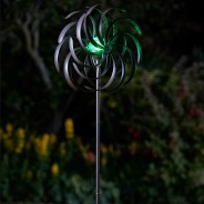 Spiro Wind Spinner with Solar Globe 1