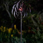 Spiro Wind Spinner with Solar Globe 3