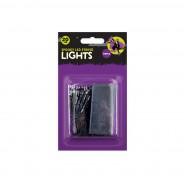 Spooky 20 LED Battery Operated String Lights - Orange/Purple 2 Petrifying Purple