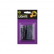 Spooky 20 LED Battery Operated String Lights - Orange/Purple 3 'Orrible Orange
