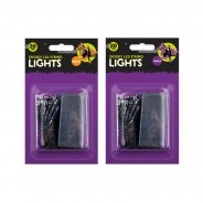 Spooky 20 LED Battery Operated String Lights - Orange/Purple 4