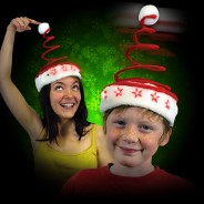 Light Up Springy Santa Hat 1