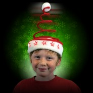Light Up Springy Santa Hat 4