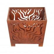 Square Rust Fire Basket 3