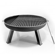 St Louis Fire Pit & BBQ Grill With Rain Cover by Fire & Dine  8 BBQ grill included