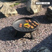 St Louis Fire Pit & BBQ Grill With Rain Cover by Fire & Dine  5