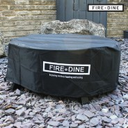 St Louis Fire Pit & BBQ Grill With Rain Cover by Fire & Dine  3 Free Waterproof Cover