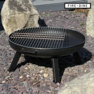 St Louis Fire Pit & BBQ Grill With Rain Cover by Fire & Dine  6