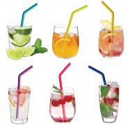 Neon Silicone Straws (6 pack) 2