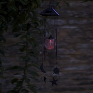 Solar Sun & Moon Wind Chime 3
