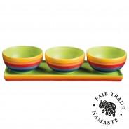 Rainbow Ceramics Tapas Bowl Sets  3 3 bowl set