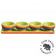 Rainbow Ceramics Tapas Bowl Sets  4 4 bowl set
