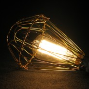 Teardrop Squirrel Cage 40w Bulb 2 Brass Cage sold separately