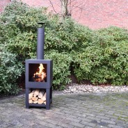 Terrace Outdoor Heater with Woodstore 136cm FF410 1