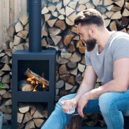 Terrace Outdoor Heater with Woodstore 136cm FF410 3