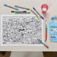 The Doodle Placemat To Go - Dinosaurs 3