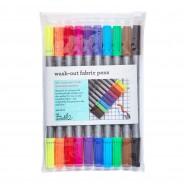 The Doodle Wash Out Fabric Pen Set - Original 6