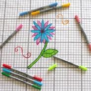 The Doodle Wash Out Fabric Pen Set - Pastel Colours 2