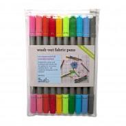 The Doodle Wash Out Fabric Pen Set - Pastel Colours 5