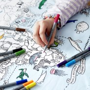The Doodle World Map Table Cloth 2