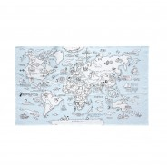 The Doodle World Map Table Cloth 4