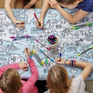 The Doodle World Map Table Cloth 1