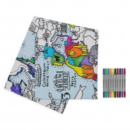 The Doodle World Map Table Cloth 5