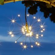 Solar Triple Starburst String Light Dual Colour 3 Warm white