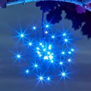 Solar Triple Starburst String Light Dual Colour 4 Blue