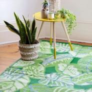 Tropical Palm Leaf Indoor /Outdoor Rug 2