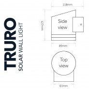 Solar Truro Wall Light 3