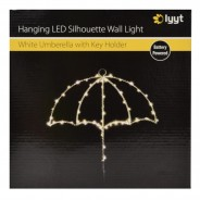 White LED Umbrella Key Holder 3