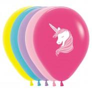 Multi Coloured Unicorn Balloons (25 pack) 1