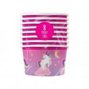 Unicorn Paper Tableware 4 8 pack unicorn treat tubs