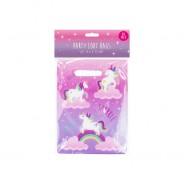 Unicorn Paper Tableware 9 Unicorn party loot bags