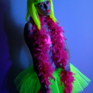 UV/Neon Feather Boa 2 UV Feather Boa Pink