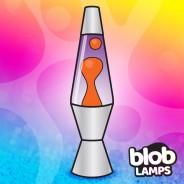 "VINTAGE Blob Lamp - Metal Lava Lamp 14.5"" - Yellow/Purple  2"