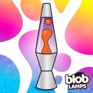 "VINTAGE Blob Lamp - Metal Lava Lamp 14.5"" - Yellow/Purple  3"