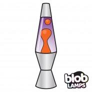 "VINTAGE Blob Lamp - Metal Lava Lamp 14.5"" - Yellow/Purple  4"