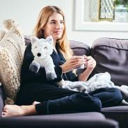 Warmies Marshmallow Grey Fox 1