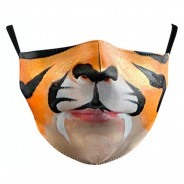 Washable & Funny Face Masks 3 Tiger Face