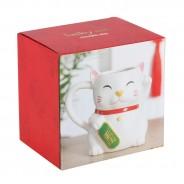 Waving Lucky Cat Mug 4