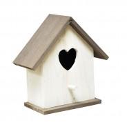 White Heart Bird Nesting Box 2
