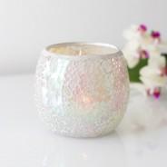 Iridescent Candle Holders White Mosaic 3